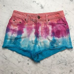 Urban Outfitters BDG High Rise Tie Dye Shorts